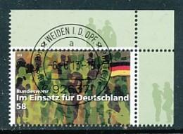 GERMANY Mi. Nr. 3015 Im Einsatz Für Deutschland: Bundeswehr - ET Weiden - Eckrand Oben Rechts - Used - [7] République Fédérale