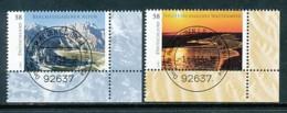 GERMANY Mi. Nr. 3017-3018  Wildes Deutschland - ET Weiden - Eckrand Unten Rechts - Used - [7] République Fédérale