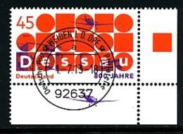 GERMANY Mi. Nr. 3019 800 Jahre Dessau - ET Weiden - Eckrand Unten Rechts - Used - [7] République Fédérale