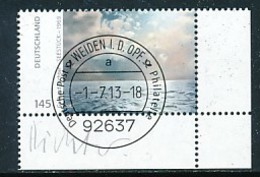 GERMANY Mi. Nr. 3020 Gerhard Richter - ET Weiden - Eckrand Unten Rechts - Used - Gebraucht