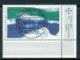 GERMANY Mi. Nr. 3022 Hilfe Für Die Hochwassergeschädigten - ET Weiden - Eckrand Unten Rechts - Used - [7] République Fédérale