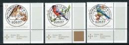 GERMANY Mi. Nr. 3023-3025 Jugend: Heimische Singvögel - ET Weiden - Eckrand Unten Rechts - Used - [7] République Fédérale