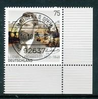 GERMANY Mi. Nr. 3032 200. Geburtstag Von Ludwig Leichhardt - ET Weiden - Eckrand Unten Rechts - Used - [7] République Fédérale