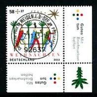 GERMANY Mi. Nr. 3035 Weihnachten - ET Weiden - Eckrand Unten Rechts - Used - Gebraucht