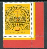 GERMANY Mi. Nr. 3036 Elektromagnetische Wellen  - ET Weiden - Eckrand Unten Rechts - Used - [7] République Fédérale