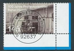 GERMANY Mi. Nr. 3038 Rahel Hirsch , Ärztin, Erste Professorin  - ET Weiden - Eckrand Unten Rechts - Used - [7] République Fédérale