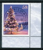 GERMANY Mi. Nr. 3039 Winterstimmung  - ET Weiden - Eckrand Unten Rechts - Used - [7] République Fédérale