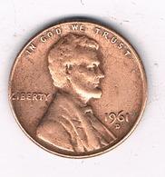 ONE CENT 1961 D  USA /8466/ - Émissions Fédérales