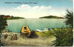 L 387 - Sainte Lucie - St Lucia - Entrance To Harbour, Castrie - Postcards