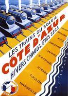 Railway Postcard Les Trains Du Cote D'Azur 1931 - Reproduction - Pubblicitari