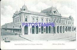104663 URUGUAY MONTEVIDEO STATION TRAIN ESTACION DE TREN ED ADROHER Hnos POSTAL POSTCARD - Uruguay