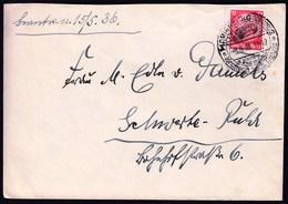 Germany Deutsches Reich Marienburg 1936 / Kraftpost Nach Danzig / Postbus / Paul V. Hindenburg 12 Pf - Germany