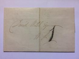GB - 1833 Entire - Edinburgh - India Street Mark To Rear - ...-1840 Préphilatélie