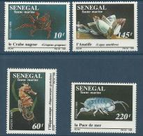 "Senegal YT 826 à 829 "" Faune Marine "" 1989 Neuf** - Senegal (1960-...)"