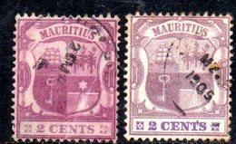 R1857 - MAURITIUS 1905, 2 Cents Yvert N. 124  Usato MultiCA: Due Nuance - Mauritius (...-1967)