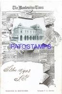 104665 URUGUAY MONTEVIDEO STATION TRAIN ESTACION DE TREN CENTRAL YEAR 1903 ED J. OLIVERAS POSTAL POSTCARD - Uruguay