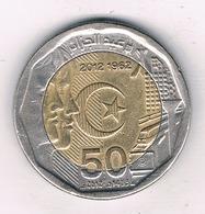 50 DINAR 2012 ALGERIJE /8470/ - Algérie