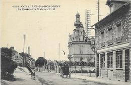Conflans Saint Honorine La Poste Et La Mairie Carte Rare - Conflans Saint Honorine