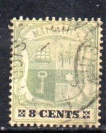 R1857 - MAURITIUS 1900, 8 Cents Yvert N. 102  Usato CA - Mauritius (...-1967)