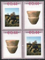 Hunebed, Trechterbeker Cultuur 4-block MNH Dutch Archeology 3000 BC Funnelbeaker Culture - Archéologie