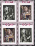 Sint Willibrord Kerstening 7e Eeuw NL Frisia  4-block  MNH Christianization 7th Century - Archéologie