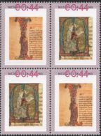 Minatuur Letter 12e & 13e Eeuw NL 4-block  MNH Miniature From Illuminated Manuscript, 12th & 13th Century - Archéologie