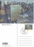 Onu, United Nations, Nations Unies, Bureau De New York, Entier Postal 2001, Fdc, Siège  De L'onu, Manhattan - New-York - Siège De L'ONU
