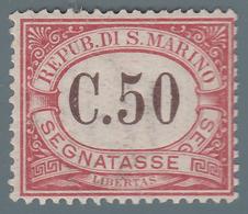 SEGNATASSE - 50 C. Carminio - 1924 - Segnatasse