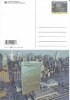 Onu, United Nations, Nations Unies, Bureau De New York, Entier Postal 2001, Carte Neuve, Siège  De L'onu, Manhattan - New-York - Siège De L'ONU
