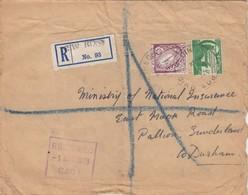 COVER. EIRE. 23 FEBR 1949. REGISTERED NEW ROSS TO DURHAN - 1949-... République D'Irlande