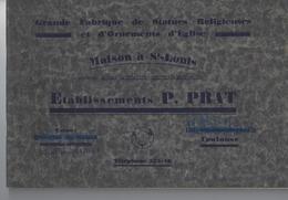 31 - TOULOUSE - Rare Catalogue Maison à St Louis Des Ets P. PRAT ( Fabrique De Statues Religieuses/ornements D'église ) - Midi-Pyrénées