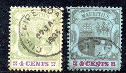 R1565 - MAURITIUS , 4 Cents Fil CA Due Esemplari Usati - Mauritius (...-1967)