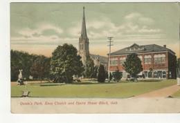 GALT, Ontario, Canada, Queen's Park, Knox Church, Opera House, 1906 Postcard Waterloo County, S/R Poplar Manitoulin - Ontario