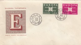 COVER. GREECE. FDC 1963 EUROPA - Chypre