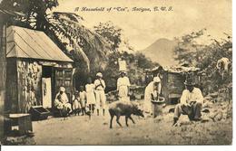 "L 391 Antigua - A Household Of ""Cen"" - Cartes Postales"
