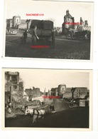WW2 2x PHOTO ORIGINALE Soldats Allemands à NEUFCHÂTEL EN BRAY P. Dieppe Rouen SEINE MARITIME 1940 - 1939-45