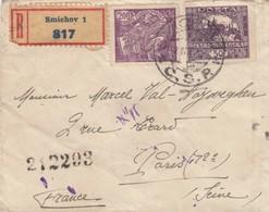 LETTRE TCHECOSLOVAQUIE.12 AVRIL 1921. RECOMMANDÉ DE SMICHOV POUR PARIS - Chypre