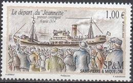 Saint-Pierre & Miquelon 2014 Départ Du Jeannette Premier Contingent Pour La Grande Guerre Neuf ** - St.Pierre Et Miquelon