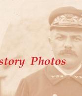 Photo Ancienne CDV Vers 1900 - Portrait Employé De Chemin De Fer VSB ( Voiron Saint Bérin ) - Chef De Gare ? Train - Trains