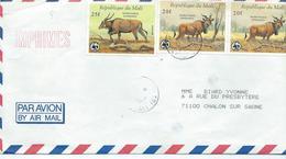 Lettre Du Mali Pour Chalon Sur Saone Avec Deux 539 Et Un 540 - Mali (1959-...)