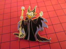 DIS-SPE Pin's Pins : BEAU ET RARE : DISNEY Très Grand Pin's SORCIERE A TETE DE CANARD 2008 - Disney