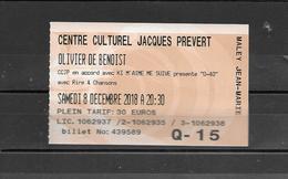 Olivier De Benoist 3 SCANS Photo Dédicacée + Billet D'entrée Centre Culturel Jacques Prévert Villeparisis  77 505 - Tickets D'entrée