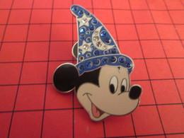 DIS-SPE Pin's Pins : BEAU ET RARE : DISNEY Très Grand Pin's MICKEY AVEC CHAPEAU DE MAGICIEN FANTASIA - Disney