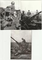 Lot De 6 Photos Années 60/70 - Matériel Militaire - Canon Anti-aérien - Scan R/V - - Guerre, Militaire
