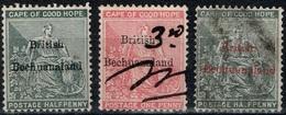 Bechuanaland - 1886 - Y&T N° 1(*), 3 Et 7 Oblitérés - Bechuanaland (...-1966)