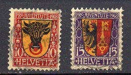 1918 Svizzera Pro Juventute Unificato N. 168 - 69 Serie Completa Timbrata Used - Svizzera
