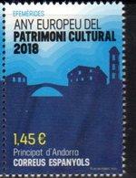 SPANISH ANDORRA, 2018, MNH, EUROPEAN YEAR OF CULTURAL HERITAGE, BRIDGES,1v - Cultures
