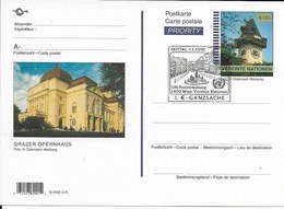 Onu, United Nations, Nations Unies, Bureau De Vienne, Entier Postal 2002, Fdc, Grazre Opernhaus - Wien - Internationales Zentrum