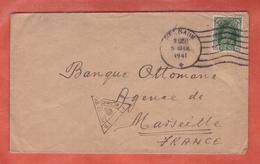 INDE LETTRE CENSUREE DE 1941 DE BELGAUM POUR MARSEILLE - India (...-1947)