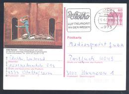 Germany  Deutschland 1990  Postal Stationery Card: Hameln; Fauna Ratten; Rats; Music ; Wlotho Slogancancellation - Nager
